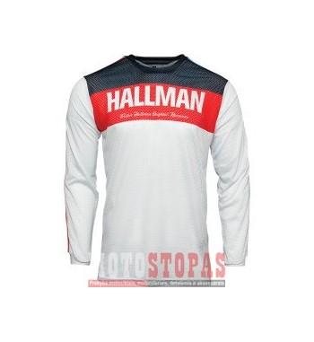 THOR-HALLMAN marškinėliai JRSY HLLMN AIR R/WH/BL