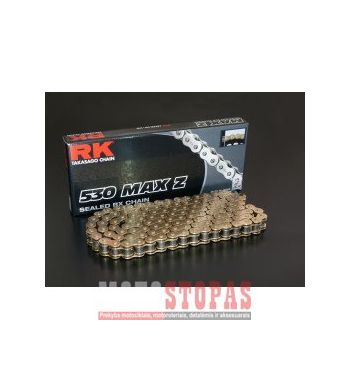Rk Grandinė MAX-Z 122 RIVET LINK 530 X-RING REPLACEMENT DRIVE CHAIN / GOLD|GOLD / CARBON ALLOY STEEL