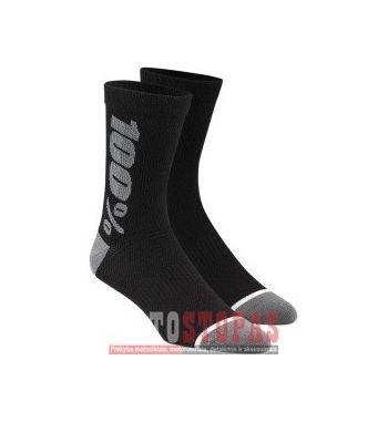 100% Kojinės l/xl Black| Gray