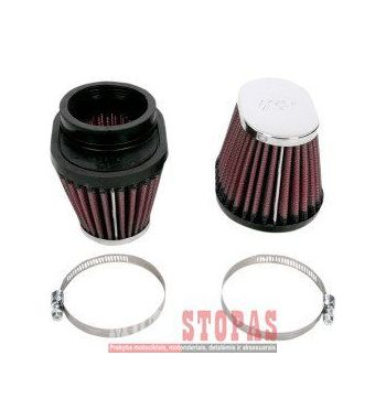 K & N UNIVERSAL FILTER SET (2) OVAL TAPERED