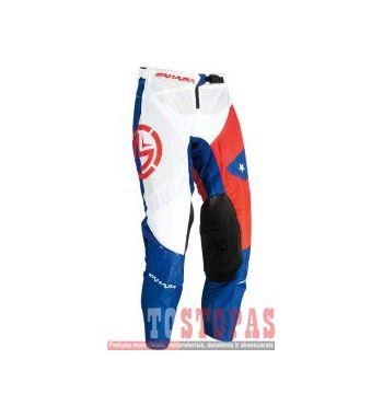 MOOSE RACING SOFT-GOODS Kelnės Red/white/Blue - 38