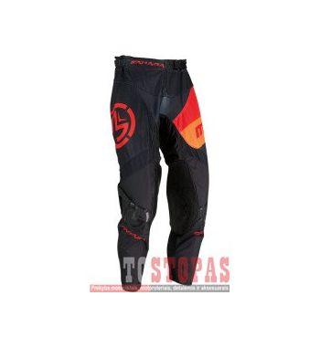 MOOSE RACING SOFT-GOODS Kelnės Black/Orange/Red - 38