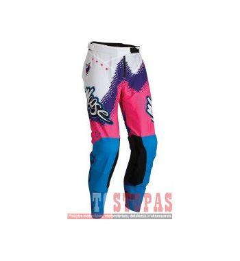 MOOSE RACING SOFT-GOODS Kelnės Pink/Blue/Purple - 38