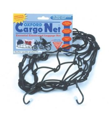 OXFORD bagažo tinklas juodas 6 kabliukai