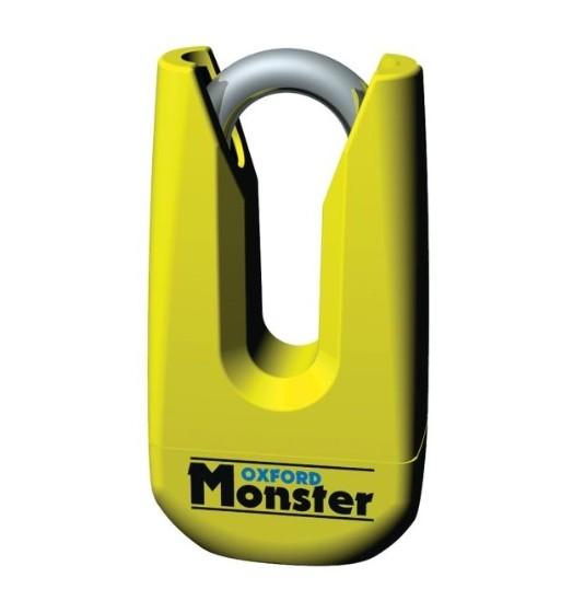 STABDŽIŲ DISKO BLOKAVIMAS Monster SU PRIMINIMU, TEPALU IR DĖKLU PIRŠTAS 11mm, SPALVA GELTONA GS