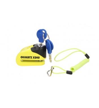 APSAUGA NUO VAGYSTĖS OXFORD Quartz XD10 disc lock(10mm PIRŠTAS)GELTONA/JUODA