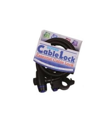 LYNAS Cable Lock SU UŽRAKTU ILG. 1,8m x 12mm, SPALVA TAMSI BS