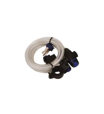 LYNAS Cable Lock SU UŽRAKTU ILG. 1,8m x 12mm, SPALVA SKAIDRI BS