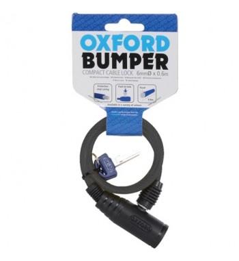 Apsauga nuo vagysčių OXFORD buferio kabelio užraktas juodos spalvos ilgis 0.6m x 6mm