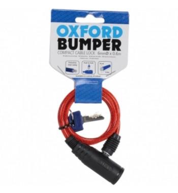 Diržas su OXFORD buferio kabelio užraktu, raudona spalva, ilgis 0.6m x 6mm