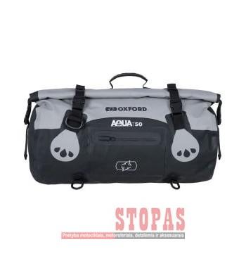 Bag (50L) AQUA T-50 ROLL BAG OXFORD colour black/grey