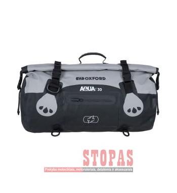 Bag (30L) AQUA T-30 ROLL BAG OXFORD colour black/grey