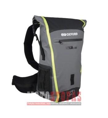 Backpack (25L) AQUA B25 Hydro OXFORD colour black/fluorescent/grey