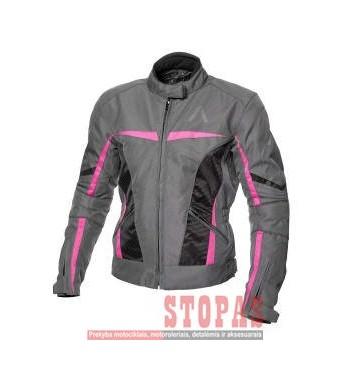 Striukė MOTERIŠKA tekstilė ADRENALINE LOVE RIDE 2.0 PPE spalva juoda/pilka/rožinė, dydis L