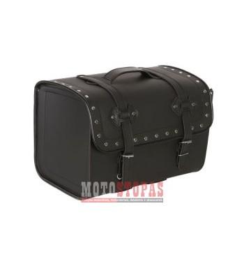 Leather side bags CRUISE BACK BIG 2.0 ADRENALINE, colour black (45 l)