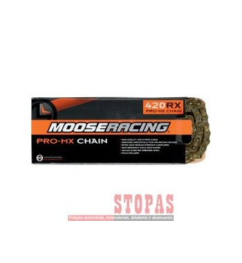 MOOSE RACING HARD-PARTS CHAIN 520-FB / 120 LINKS / O-RING / GOLD