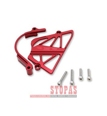 POWERSTANDS RACING CASE SAVER SPROKET COVER ALUMINUM ANODIZED RED
