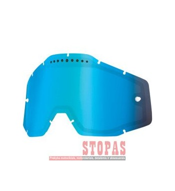 100 % STIKLIUKAS AKINIAMS MIRROR BLUE VENTED DUAL REPLACEMENT