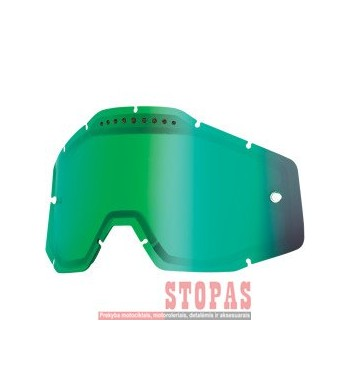 100 % STIKLIUKAS AKINIAMS MIRROR GREEN VENTED DUAL REPLACEMENT