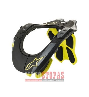 ALPINESTARS(MX) KAKLO APSAUGA BLACK/YELLOW XS/S/M