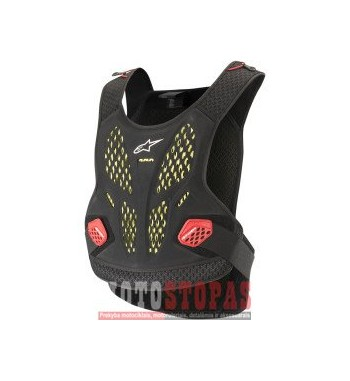 ALPINESTARS(MX) SEQUENCE OFFROAD CHEST PROTECTOR ANTHRACITE/RED XL/2XL