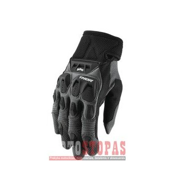 THOR pirštinės  TERRAIN S9 OFFROAD GLOVES CHARCOAL X-SMALL