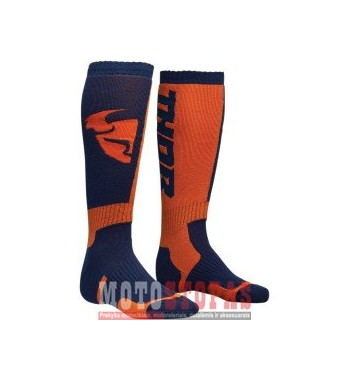 THOR kojinės YOUTH MX S8Y SOCK NAVY/ORANGE ONE SIZE