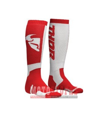 THOR kojinės YOUTH MX S8Y SOCK RED/WHITE ONE SIZE